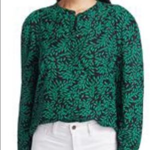 NWT Joie Kelly Green/Blue Blouse -M